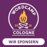 Sponsor auf dem WordCamp Cologne 2018