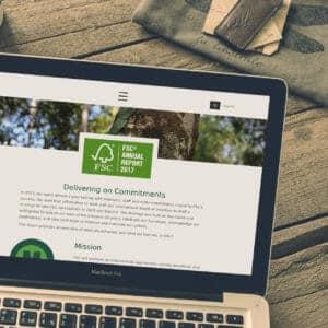 WordPress-Website für den Jahresbericht des FSC