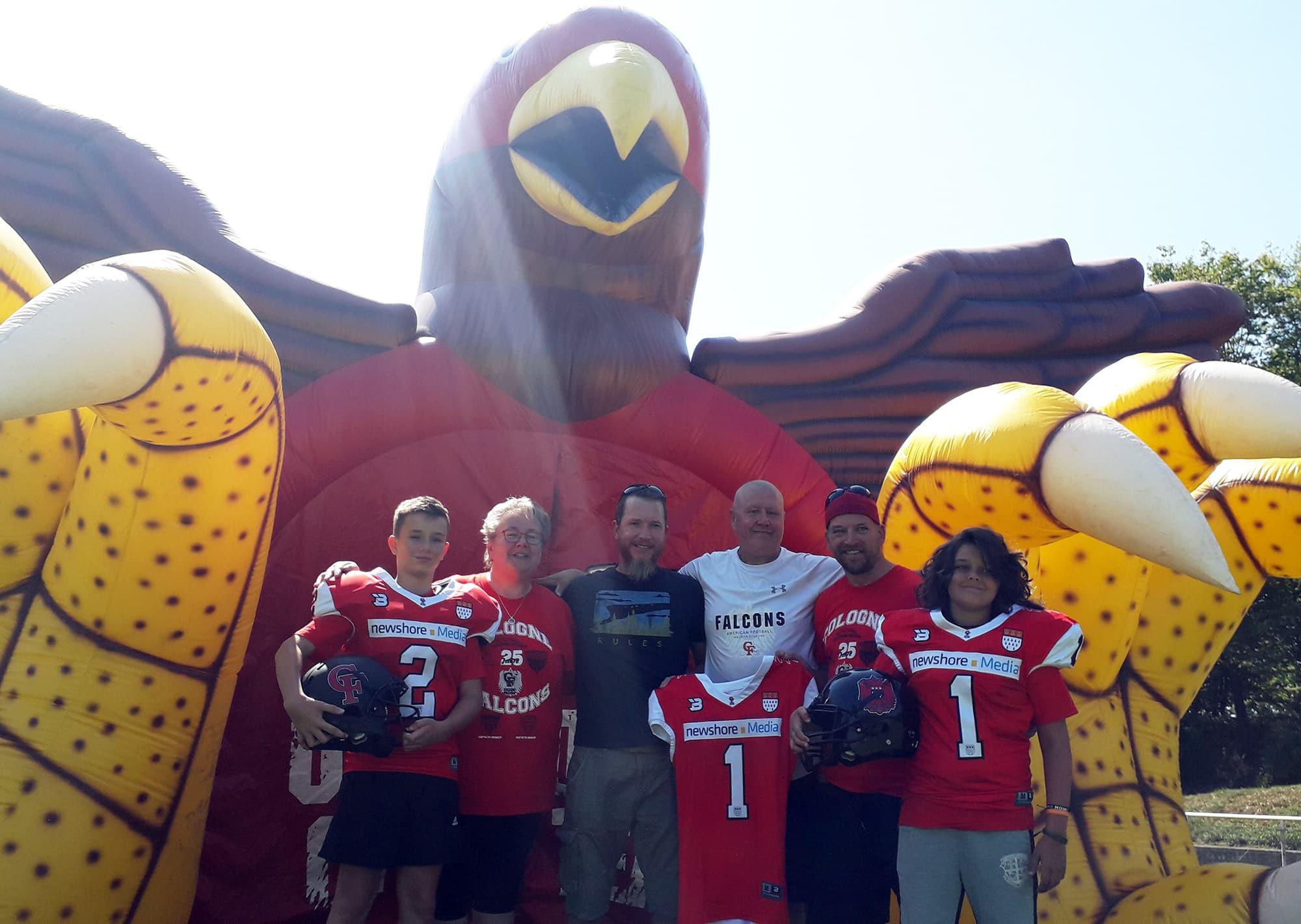 Trikotsponsor des U13-Teams der Cologne Falcons