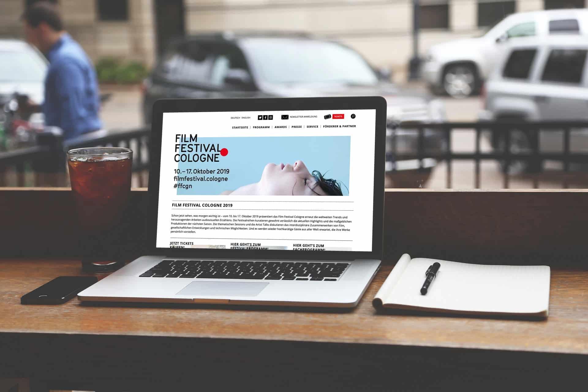 Neue WordPress Website für das Film Festival Cologne